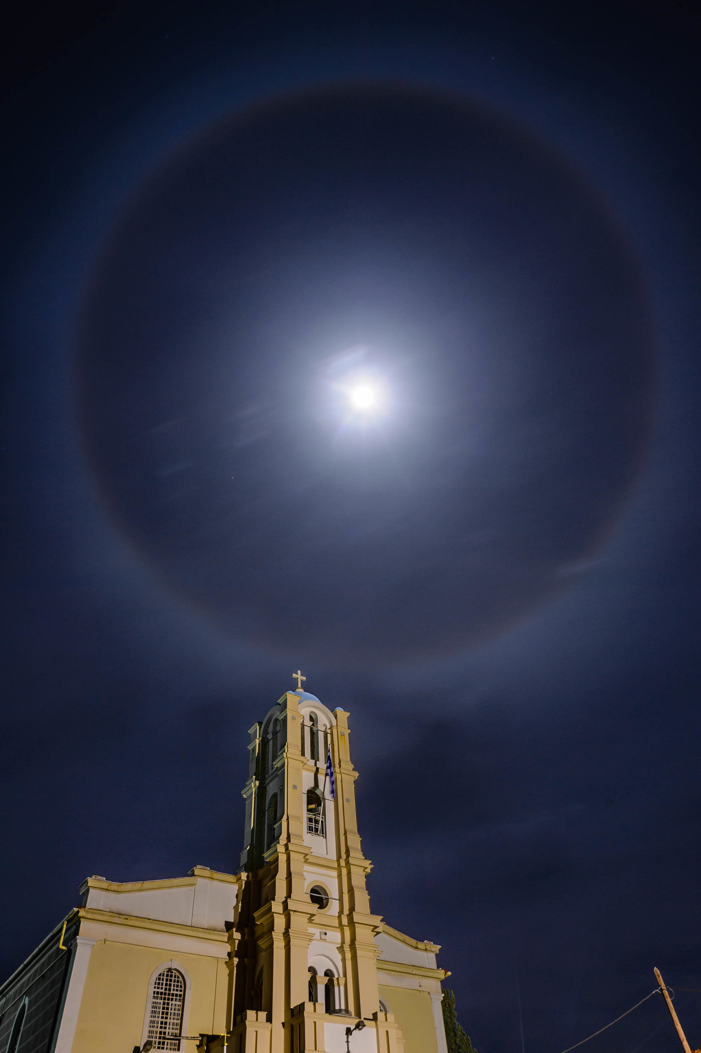 Η σεληνιακή άλως 22°. Credit: Spiros Vathis.